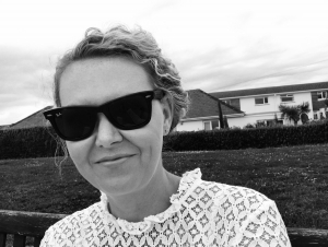 Black and white photo of Sarah Brandwood, personal assistant